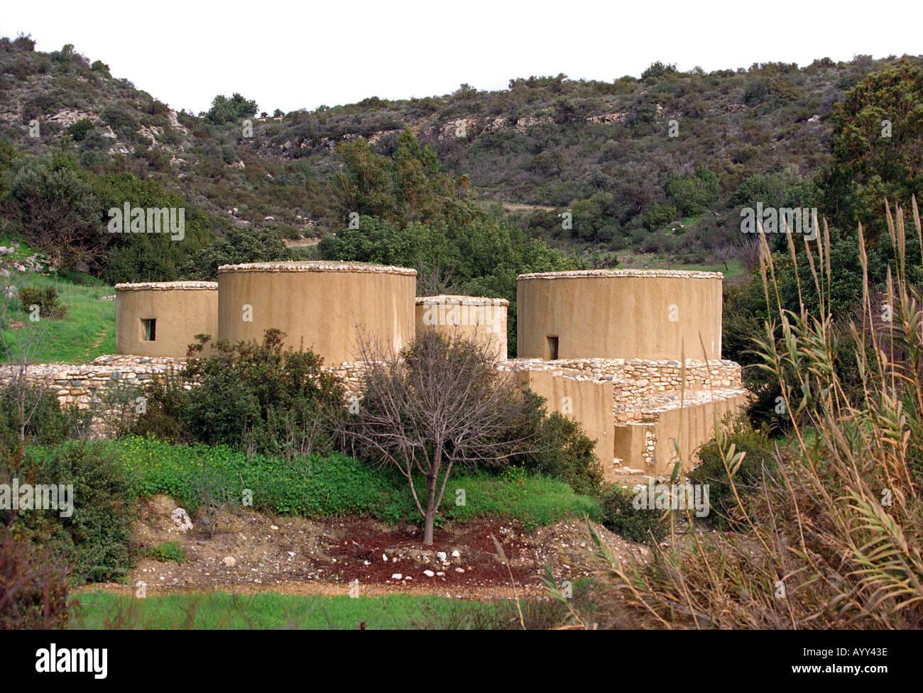 Choirokoitia Neolithic Settlement in Cyprus Stock Photo