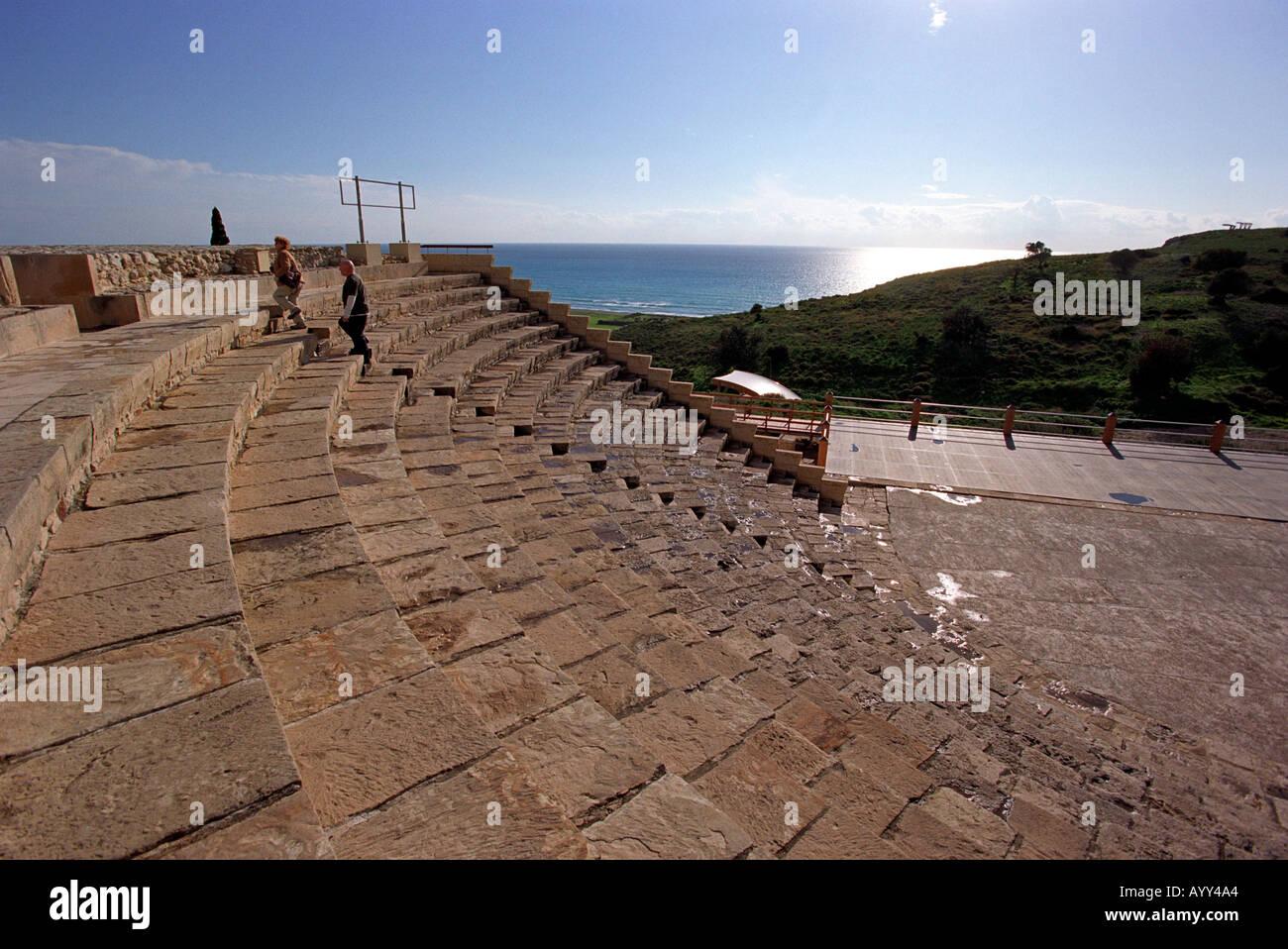 Kourion Graeco Roman Theatre in Cyprus Stock Photo
