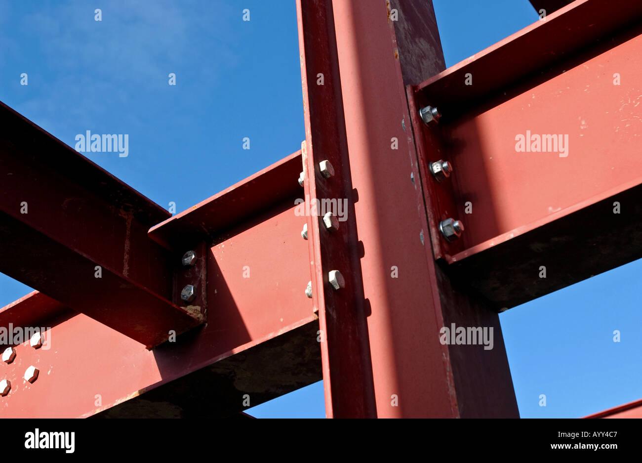 Close up of iron girders - Stock Image
