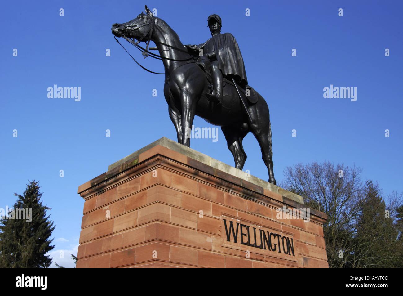 Wellington Statue Aldershot - Stock Image