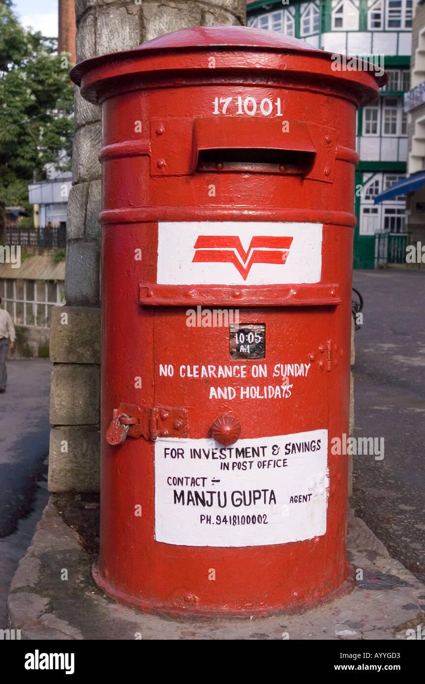 Old Red Round Letter Box In Shimla Himachal Pradesh India