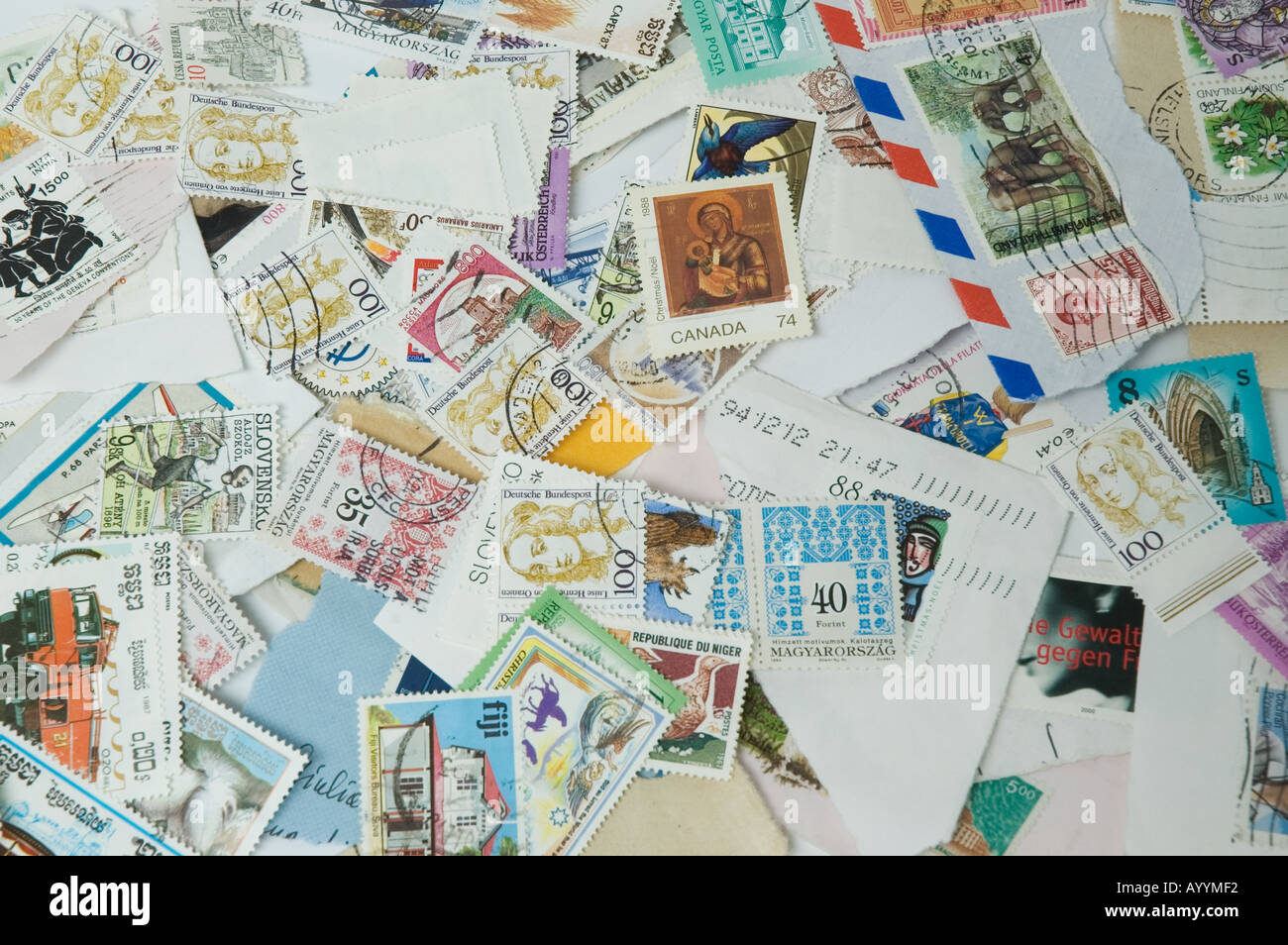 postage stamps - Stock Image