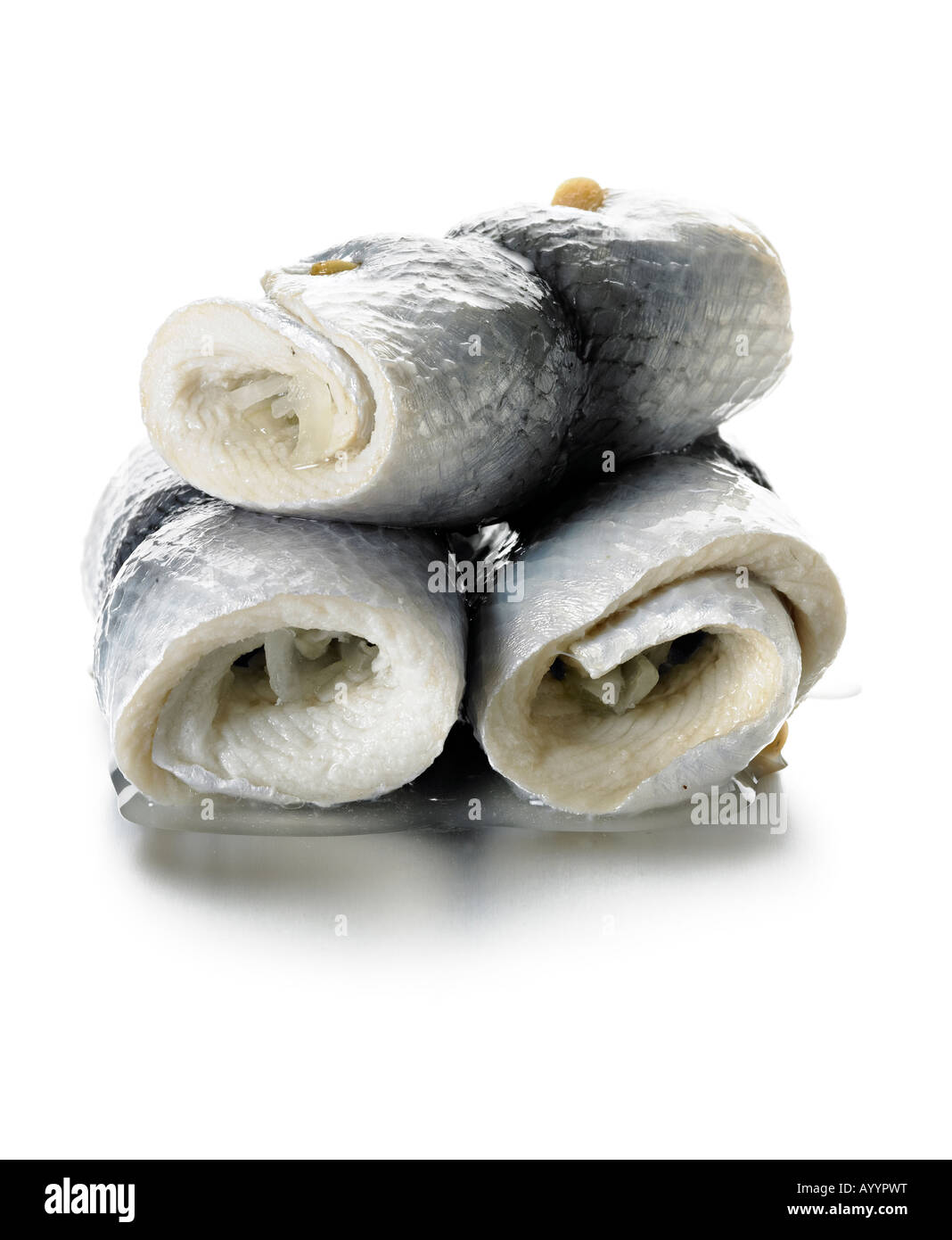 roll mop herring - Stock Image