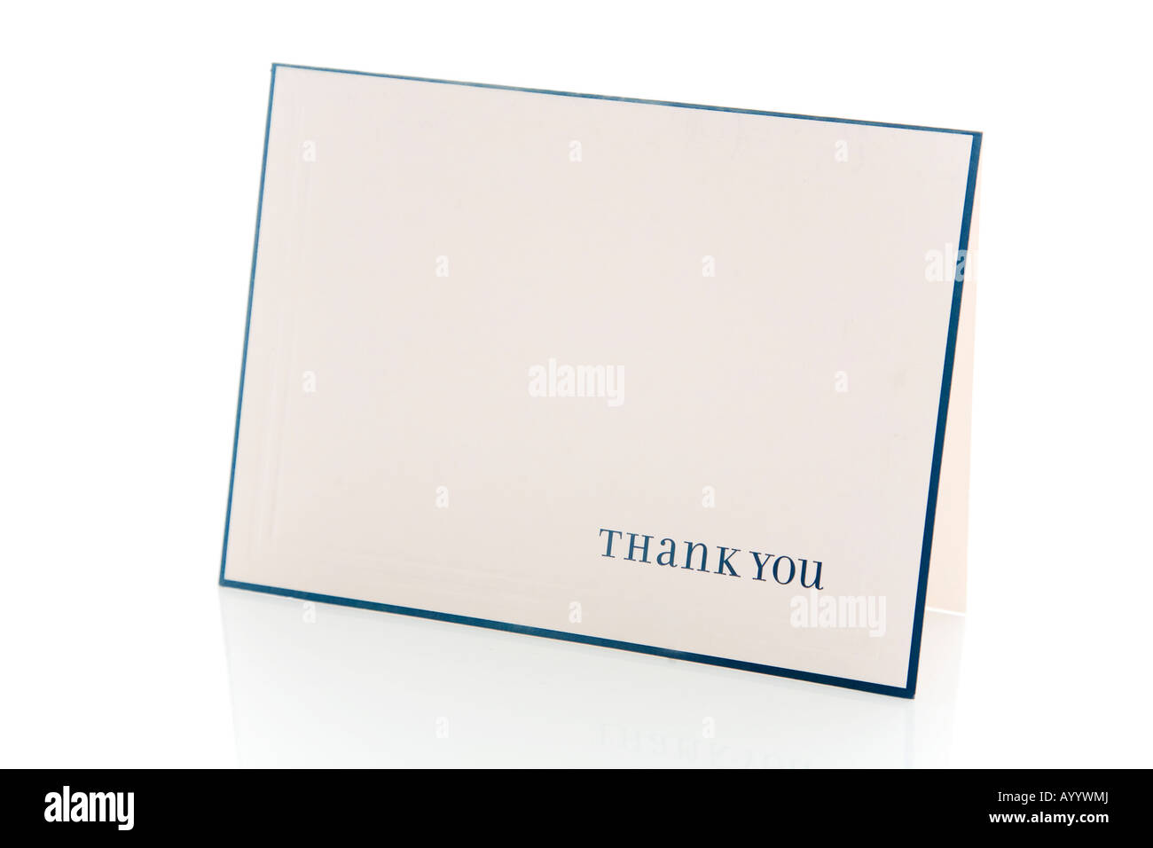 Thank You Card. - Stock Image
