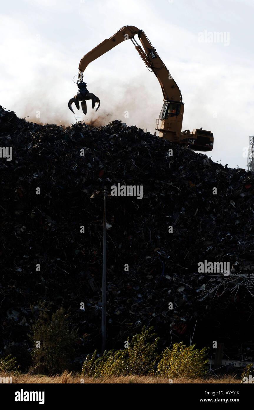 Port of Rotterdam recycling of metal scrap bulk - Stock Image