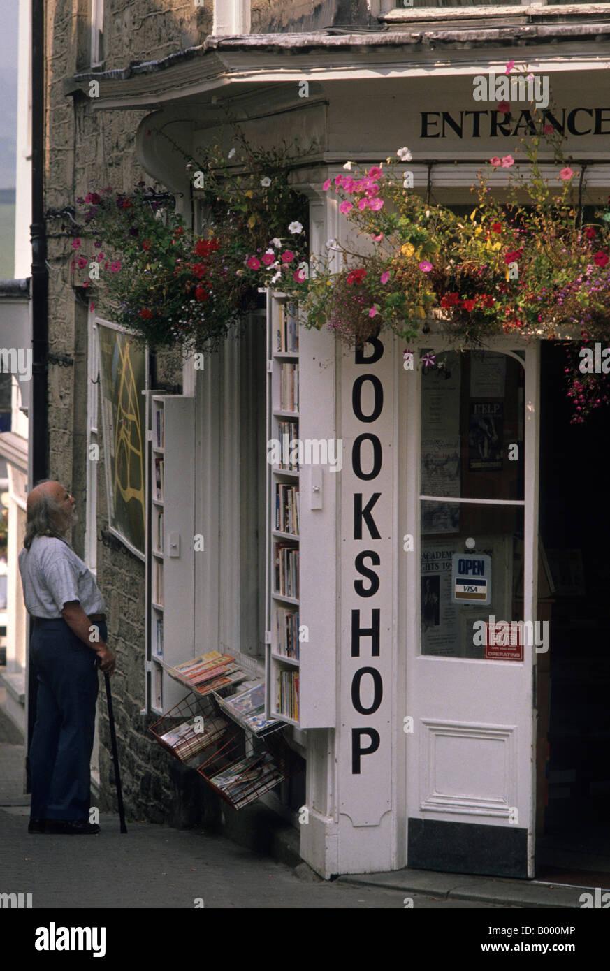 Bookshop, Hay on Wye Stock Photo