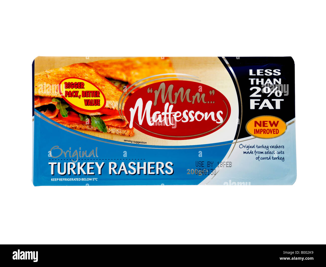 Turkey Bacon - Stock Image