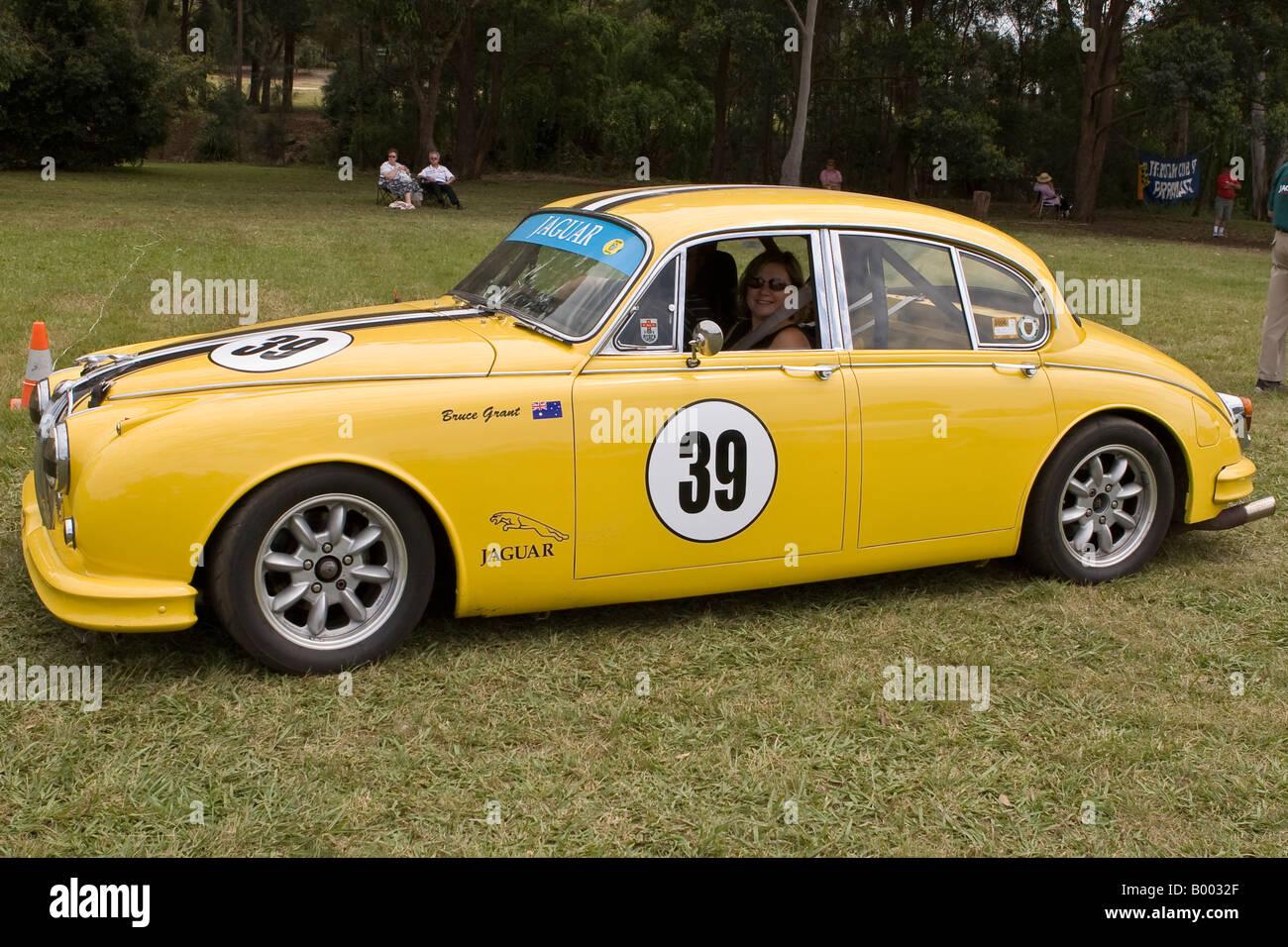 Racing Jaguar Mk2 Car Stock Photos Racing Jaguar Mk2 Car Stock