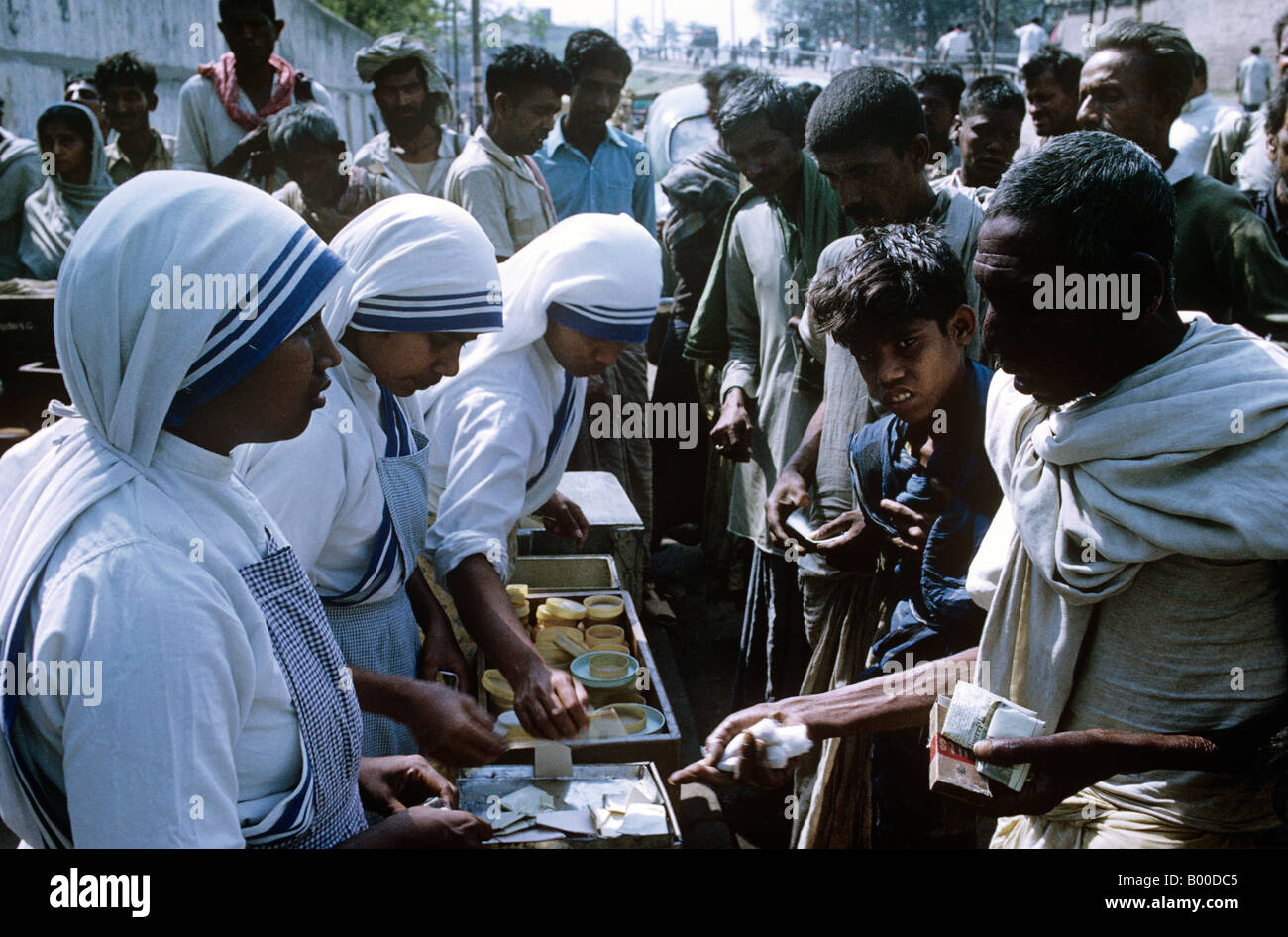 Calcutta(Kolkata)Founded by Mother Therese her Missionaries of Charity continue dispensing aid where it is needed - Stock Image