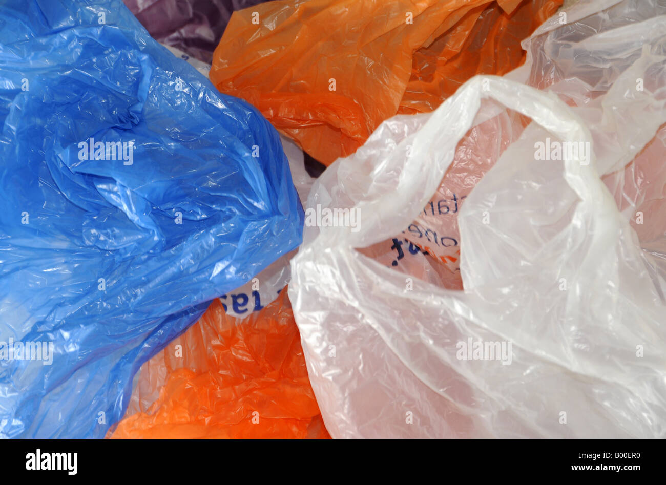Plastic bags, London, UK - Stock Image
