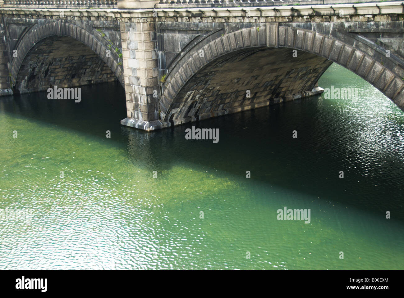 The Nijubashi Bridge also known as the Meganebashi Bridge, Tokyo Imperial Palace, Japan. - Stock Image