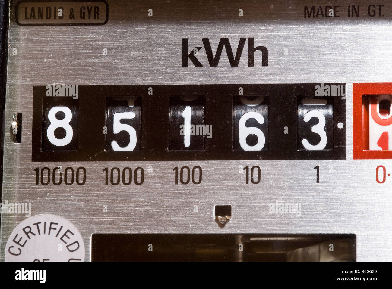 Electricity Meter Display - Stock Image