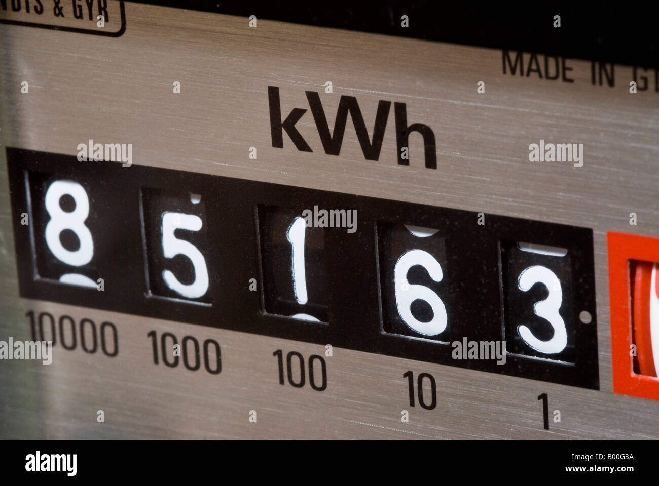 Electricity Meter Display - Stock Image
