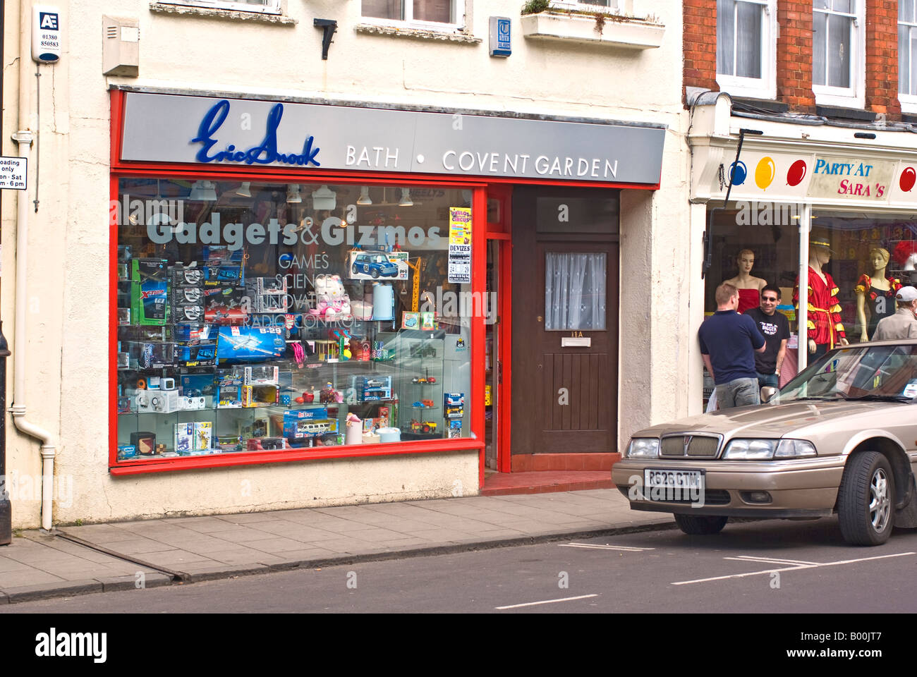 Small retail shop in Devizes Wiltshire England UK EU - Stock Image