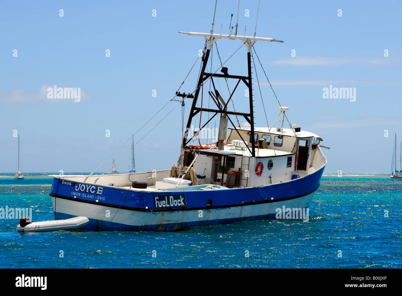 A Former Commercial Fishing Boat Now Used To Sell Diesel In Clifton Stock Photo Alamy