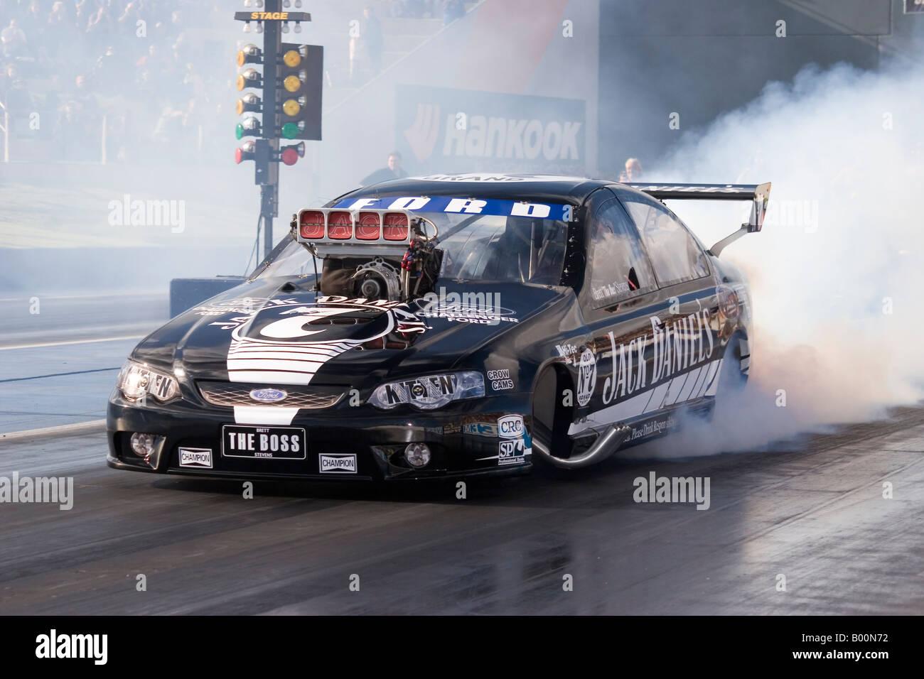 Brett Stevens leading Australian Top Doorslammer driver & Brett Stevens leading Australian Top Doorslammer driver Stock Photo ...