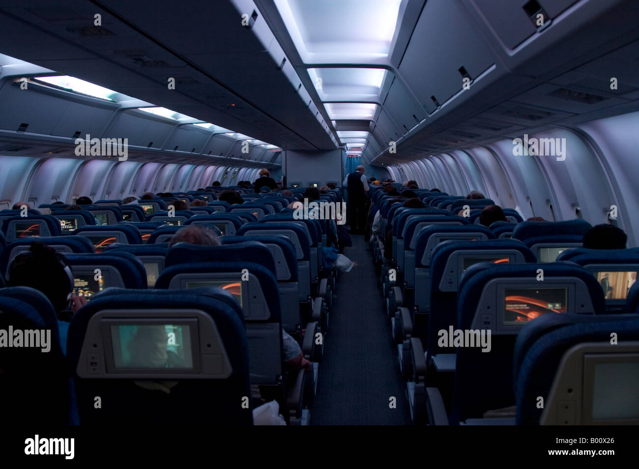 Air Canada Boeing 767 300er Interior On Route From London To Toronto Stock Photo 17230814 Alamy