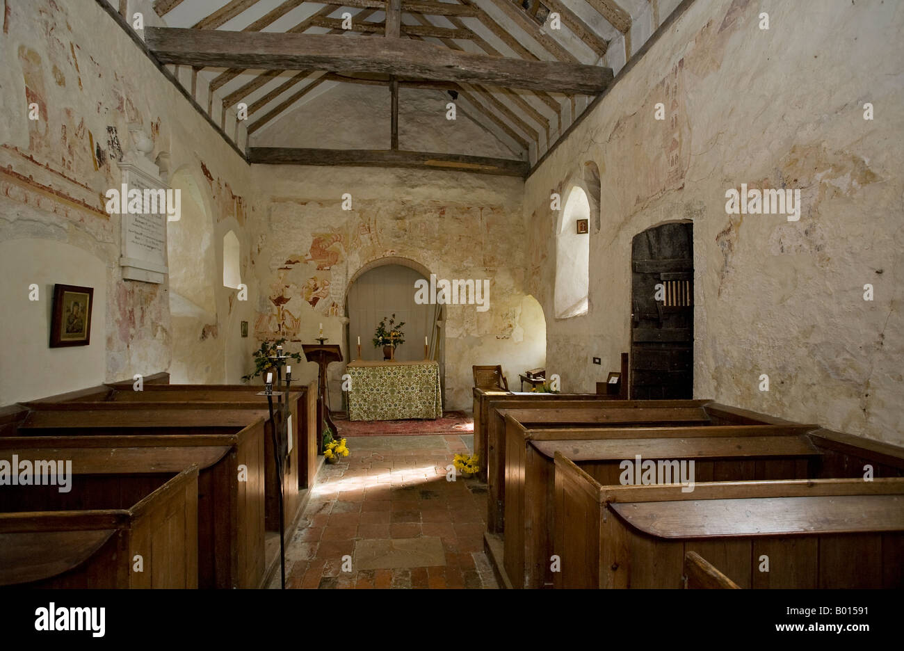 Coombes Church, Sussex, England, UK - Stock Image