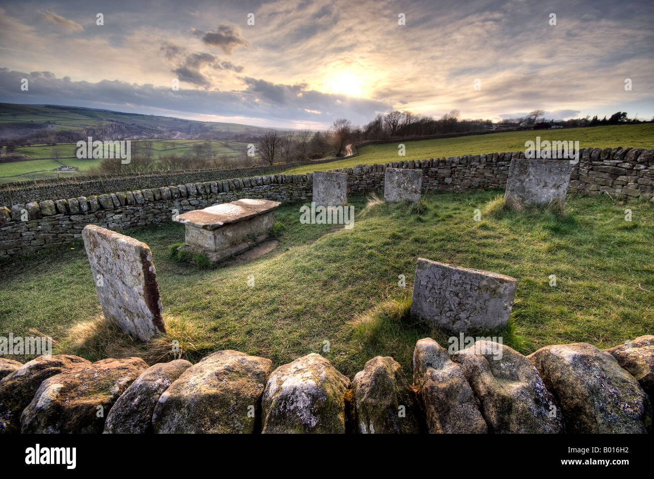 'Riley Graves' at Eyam in Derbyshire  Great Britain - Stock Image