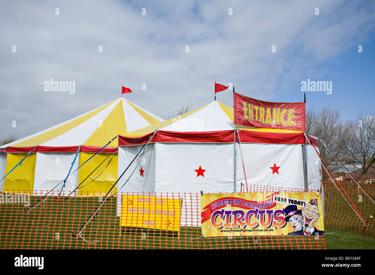 Circus tent. Sussex, England - Stock Image