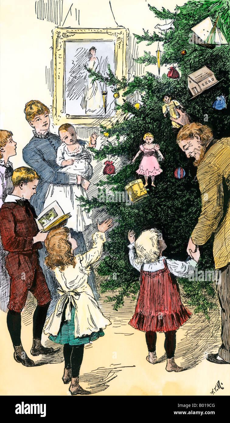 Victorian Christmas Tree 19th Century Stock Photos & Victorian ...