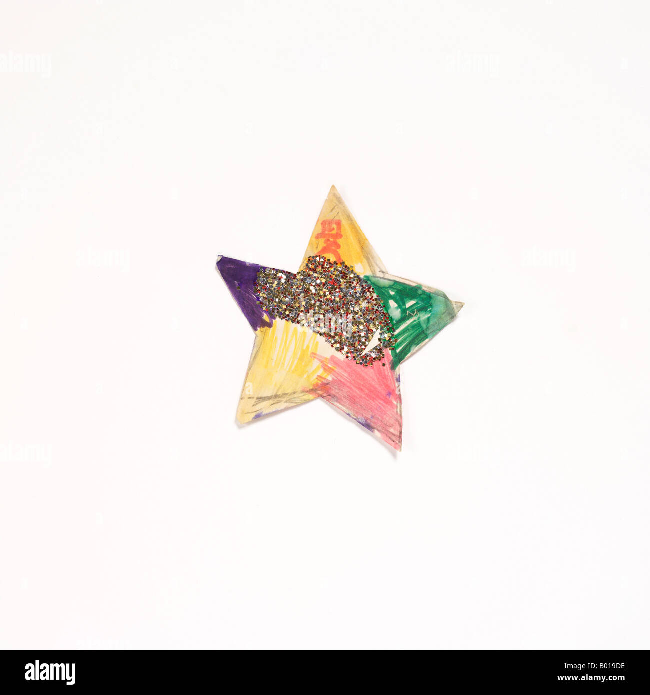 star sprinkled with gold glitter - Stock Image
