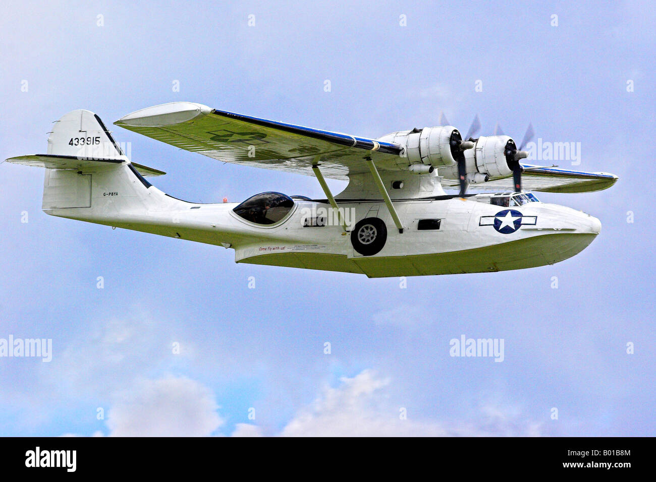 Consolidated PBY 5A Catalina Amphibian Aircraft - Stock Image
