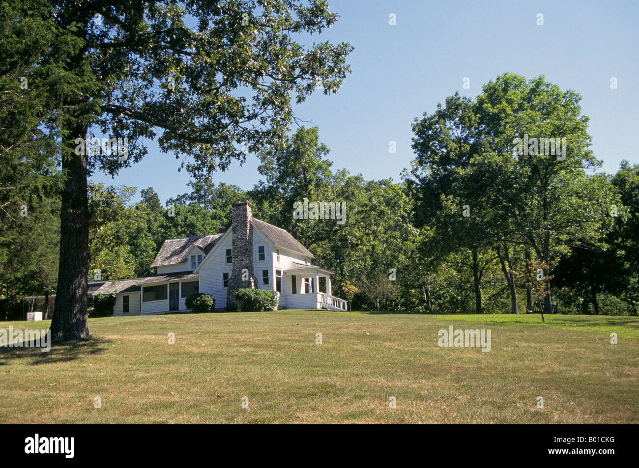 Rocky Ridge FArm the home of Laura Ingalls Wilder author the Little House On The Prairie books which were written - Stock Image