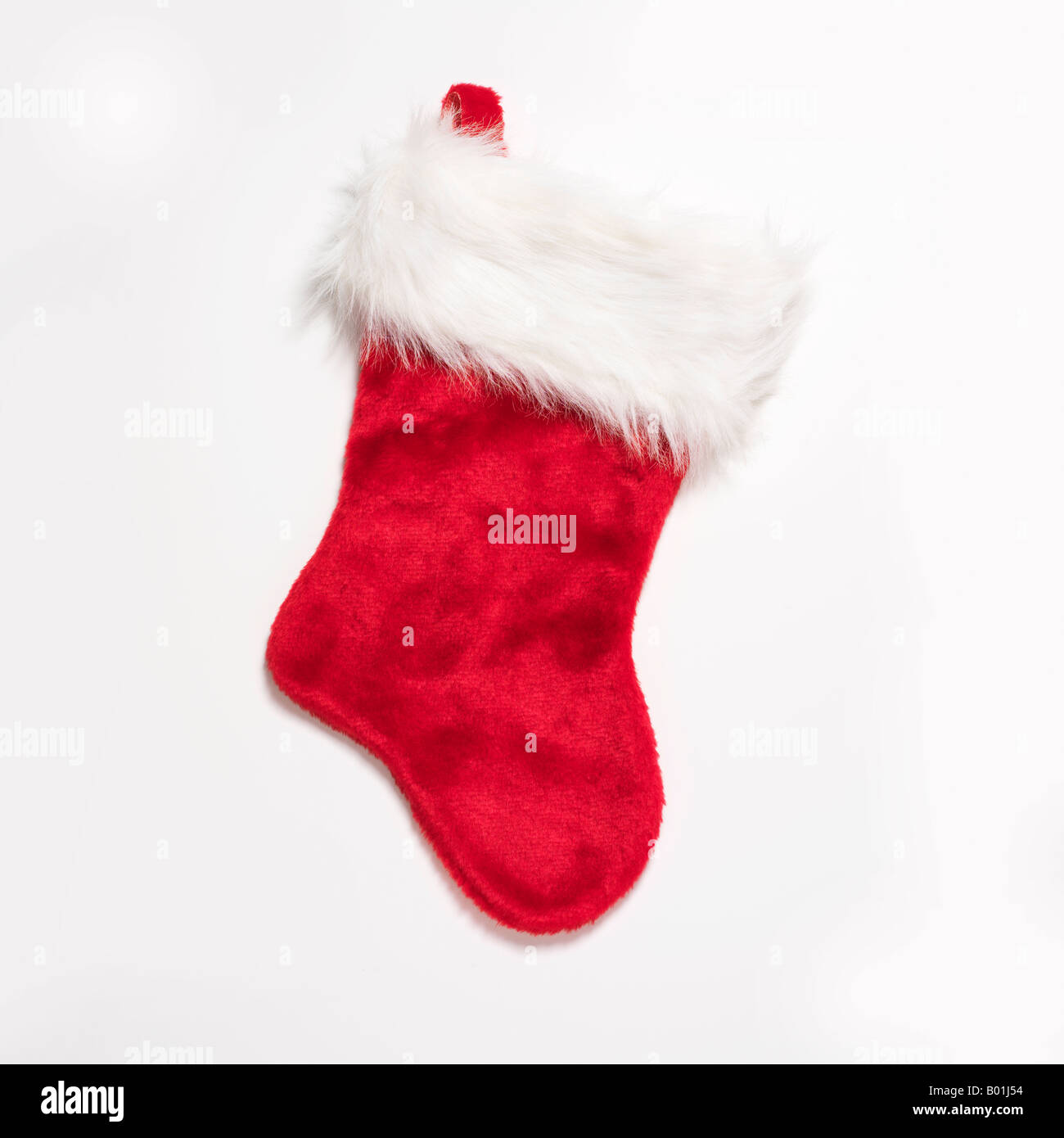 red Christmas stocking - Stock Image