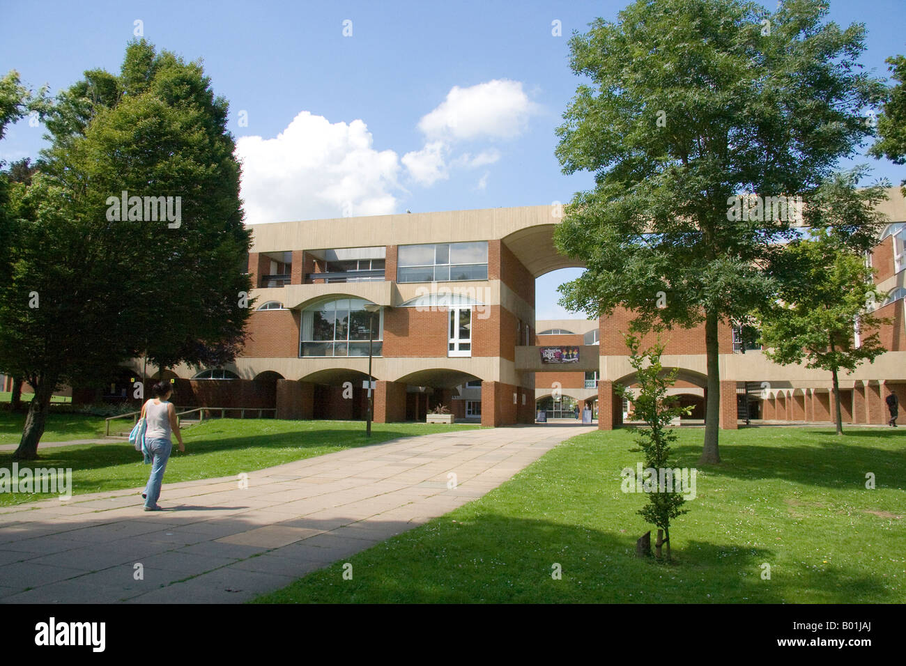 Summer view of the Falmer House building University of Sussex Falmer Brighton - Stock Image