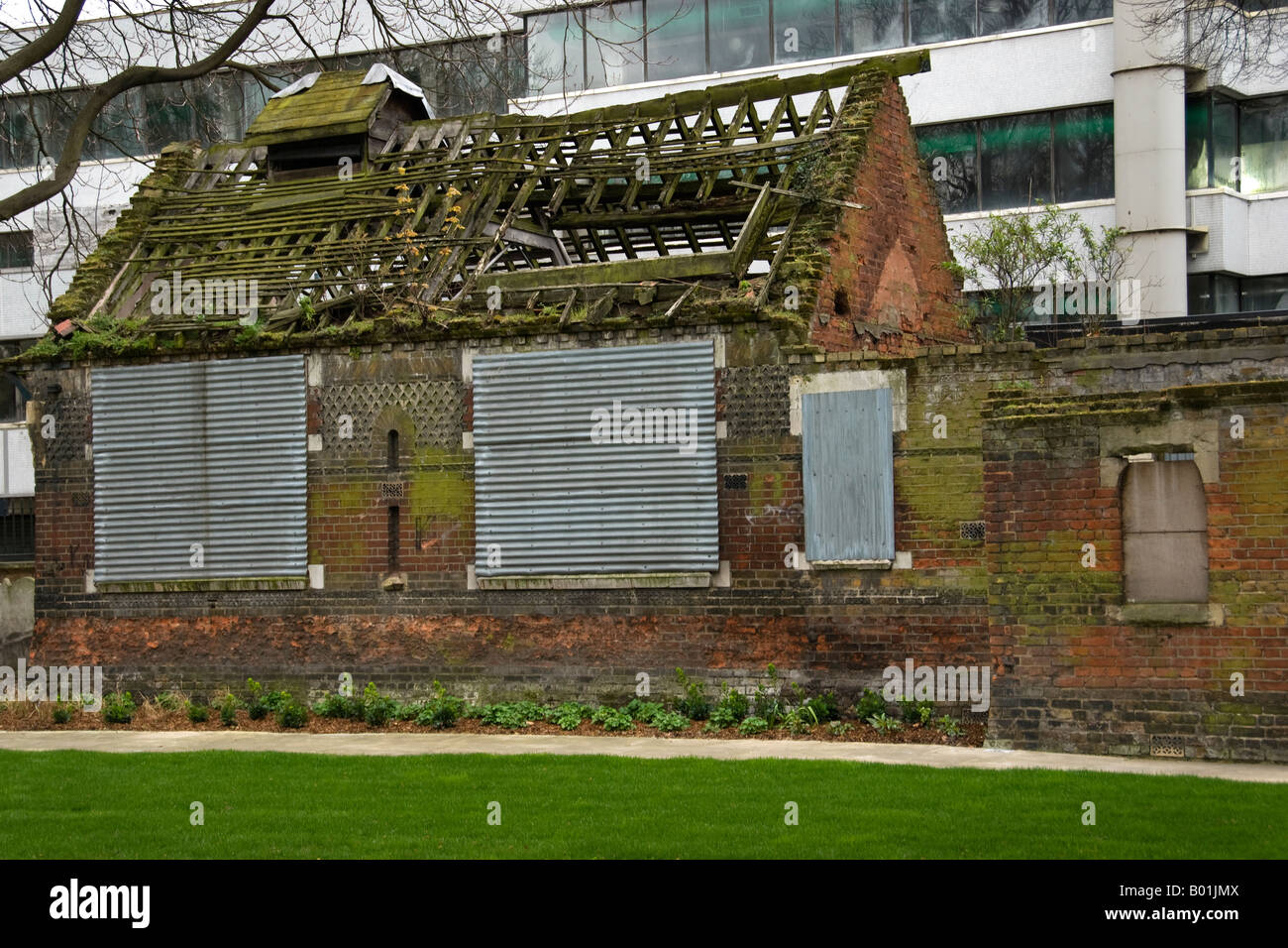 Former Nature Study Museum in grounds of Church of St. George in the East, near Shadwell, London, England, UK. - Stock Image