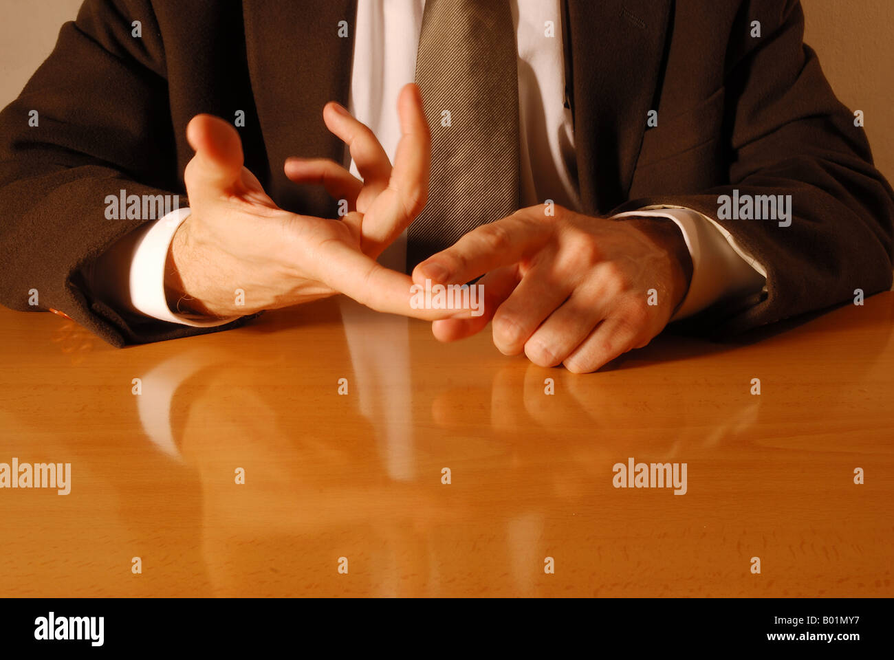 Hand gestures: counting with fingers. - Stock Image