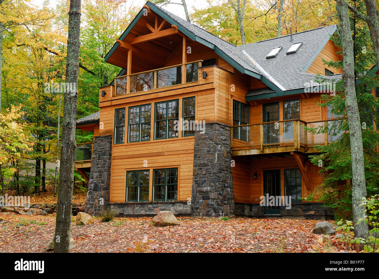 A Beautiful Log Home And Cottage On Northern Ontario Lake In Canada