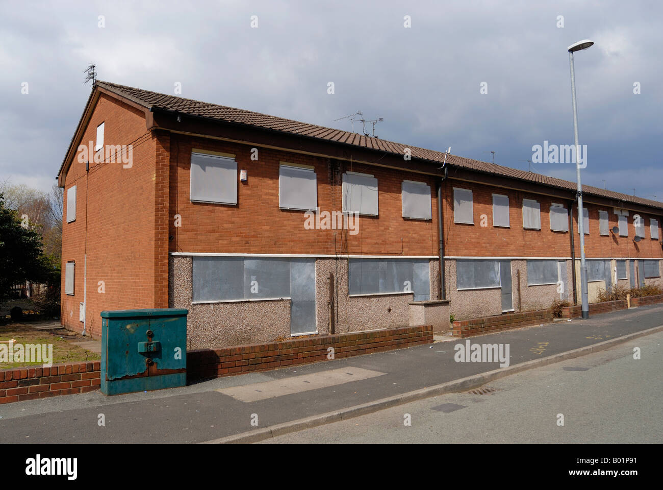 Houses in the Beswick district of East Manchester, refered to as Eastlands and close to the city centre, - Stock Image