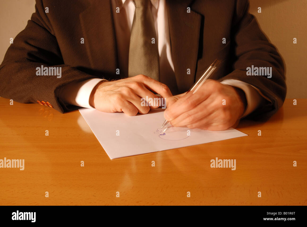 Hand gestures: drawing. Stock Photo