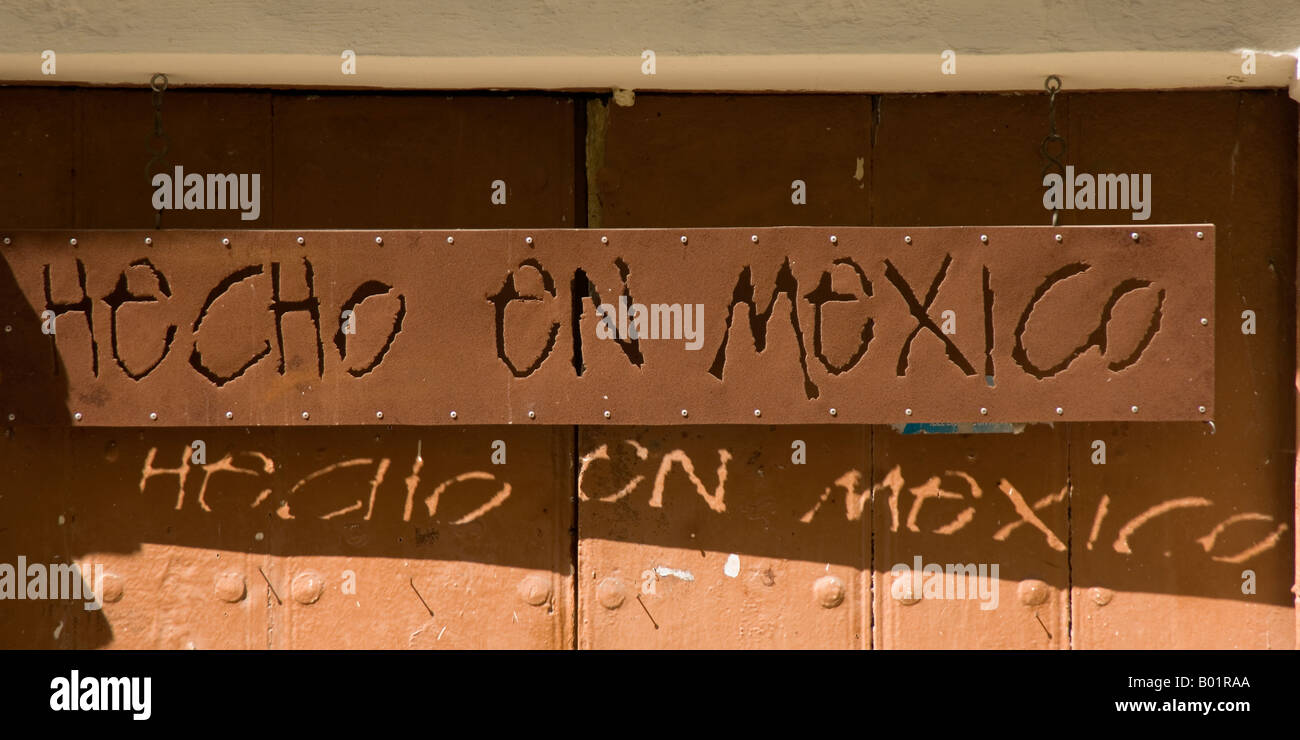 Hecho en Mexico, Campeche - Stock Image