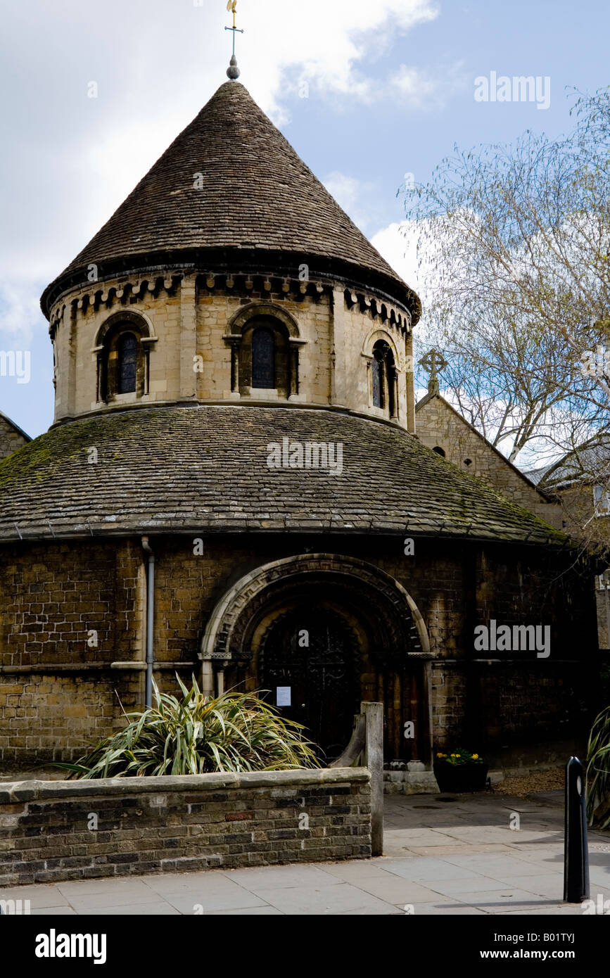 Round Church or Church of the Holy Sepulchre, Cambridge, Cambridgeshire, East Anglia, England, UK - Stock Image