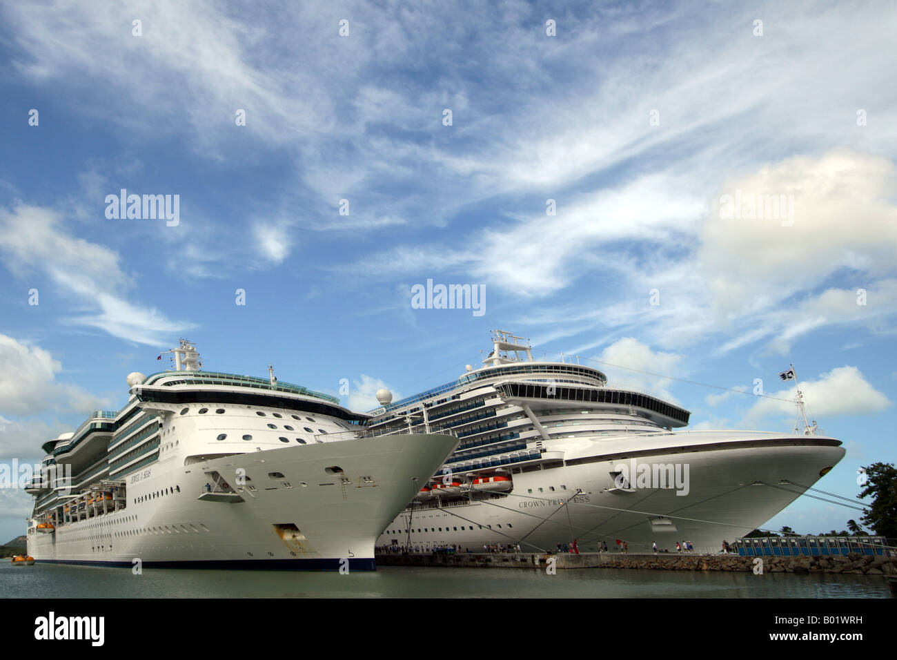 Cruise liners St Johns Harbour, Antigua Caribbean - Stock Image