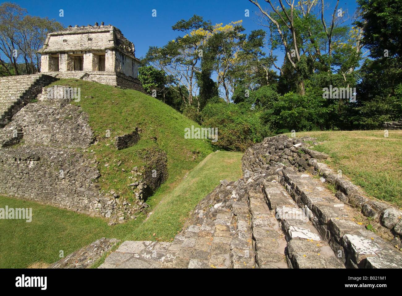 Maya ruins of Palenque - Stock Image