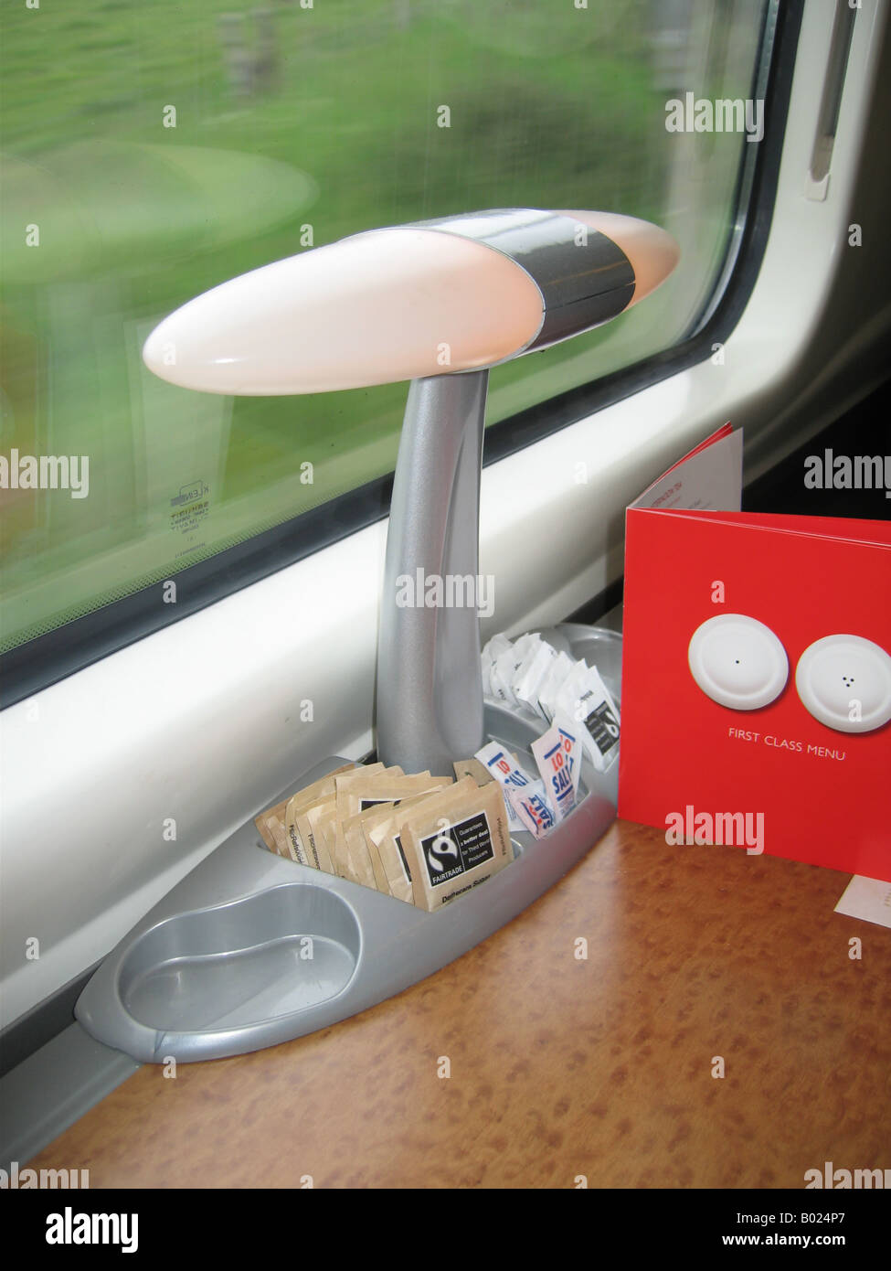 First class train seat - Stock Image