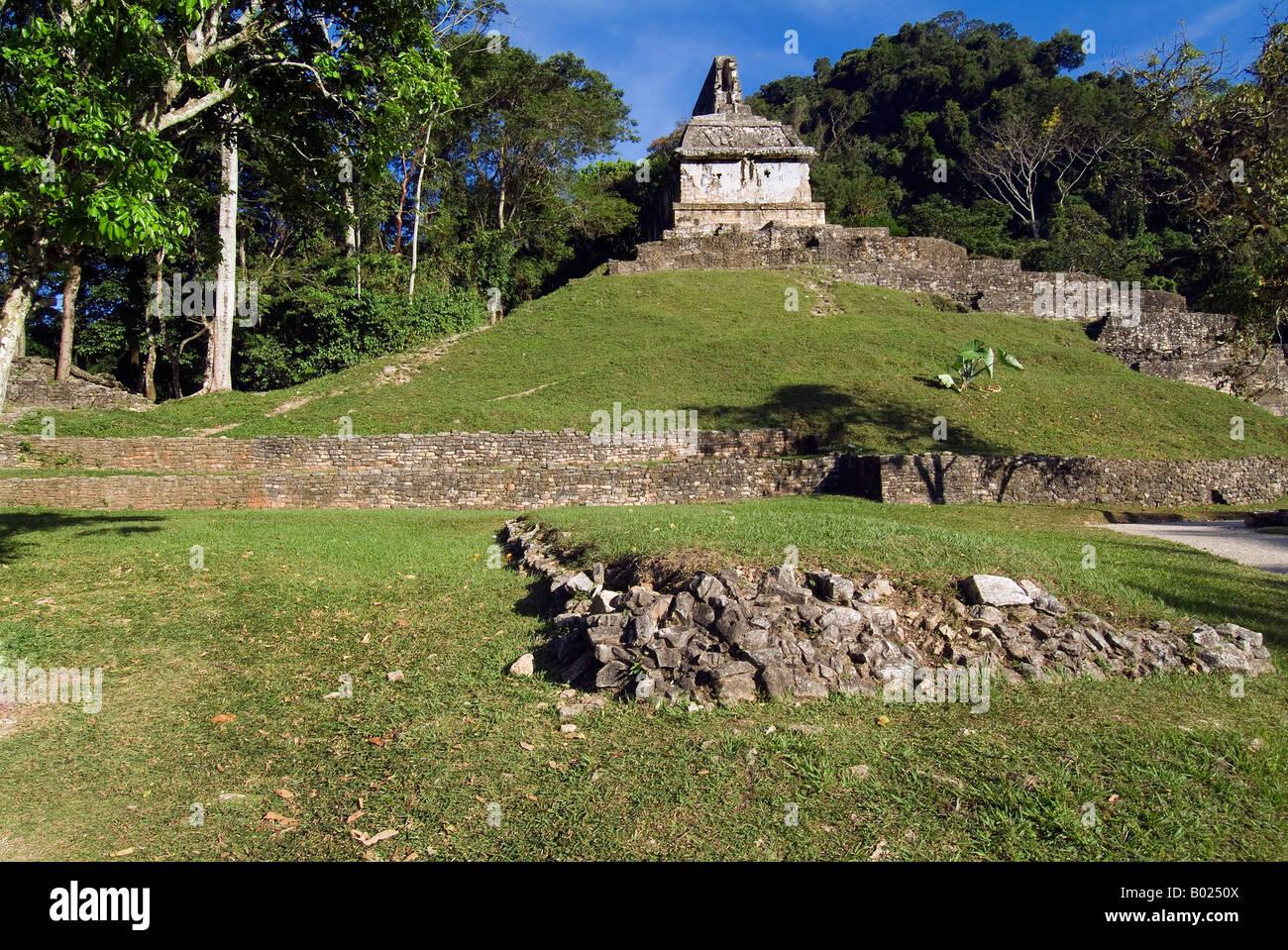 Maya Ruins Palenque - Stock Image