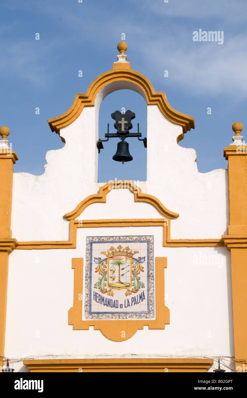 One of the many brotherhood centres used by pilgrims El Rocio Spain - Stock Image