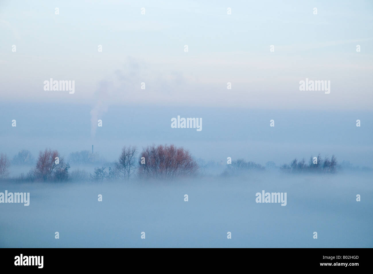 Misty Winter Scene - Stock Image