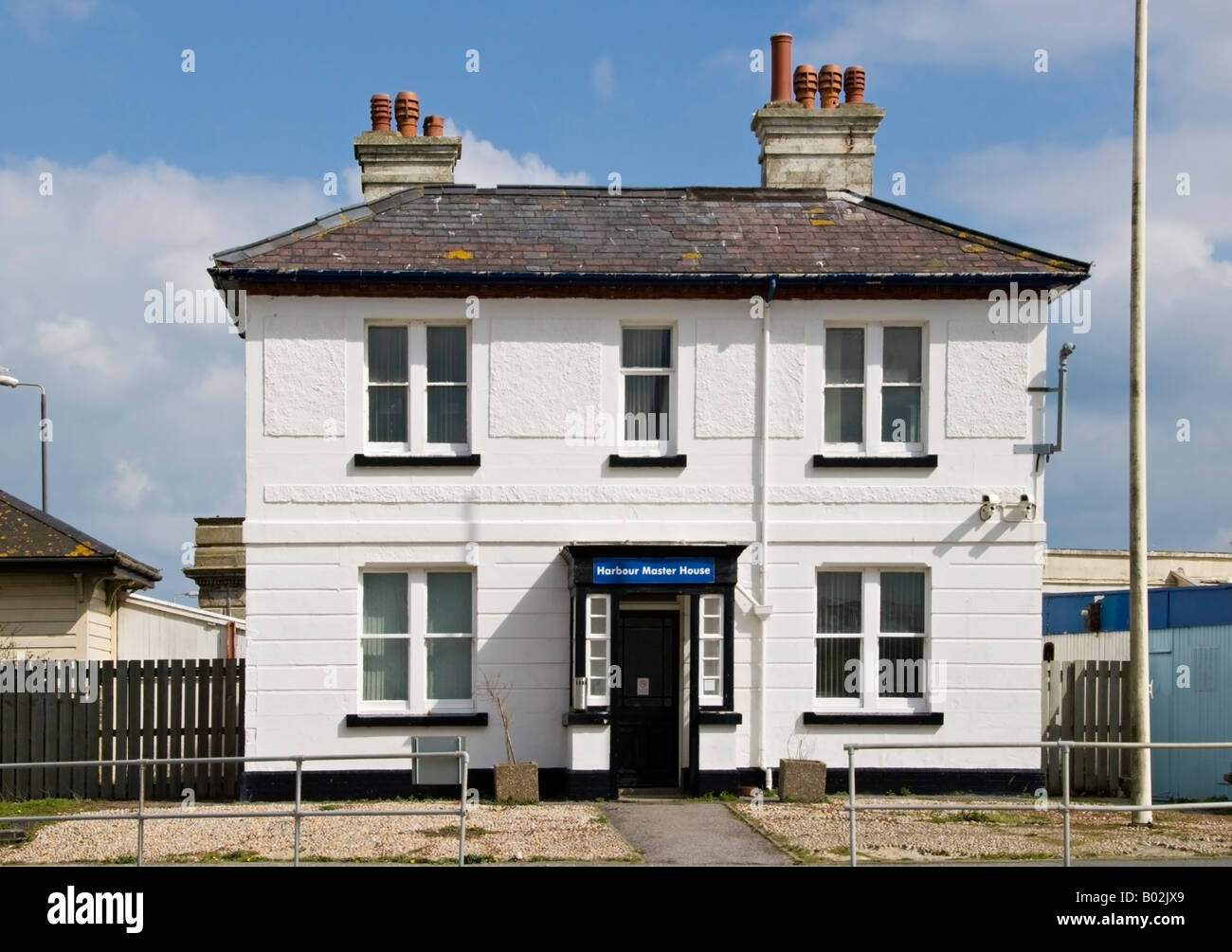The Harbourmaster's House at Folkestone Harbour, Kent, UK. - Stock Image