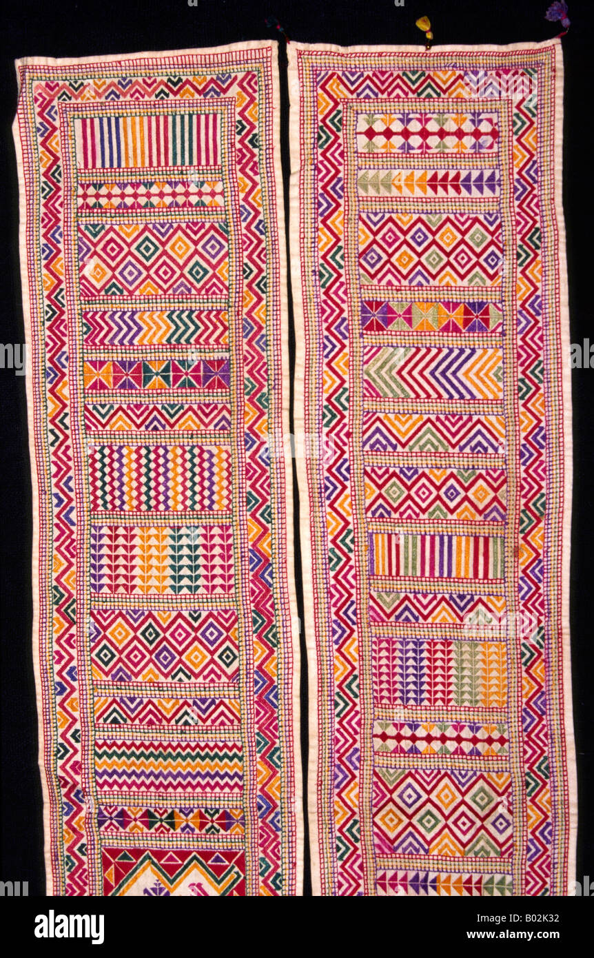 India Gujerat Crafts Bukani Soof Sindhi Embroidery Stock Photo