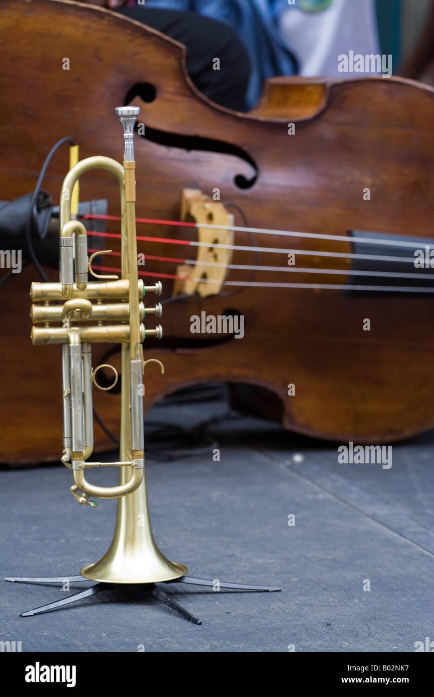 Music Trumpet Base - Stock Image