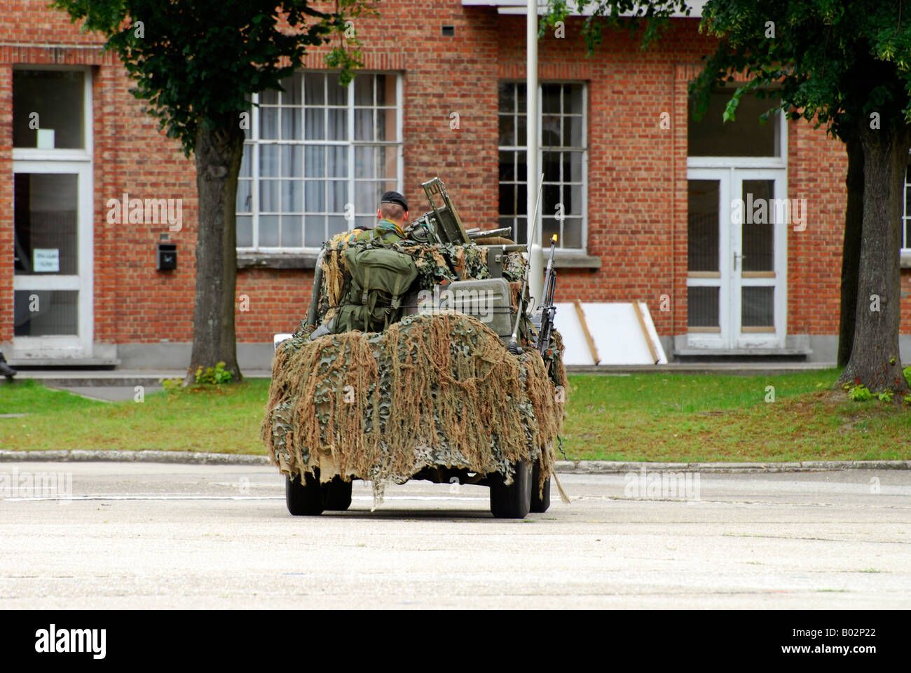 A recce or scout team of the Belgian Army in their VW Iltis jeeps in action. - Stock Image