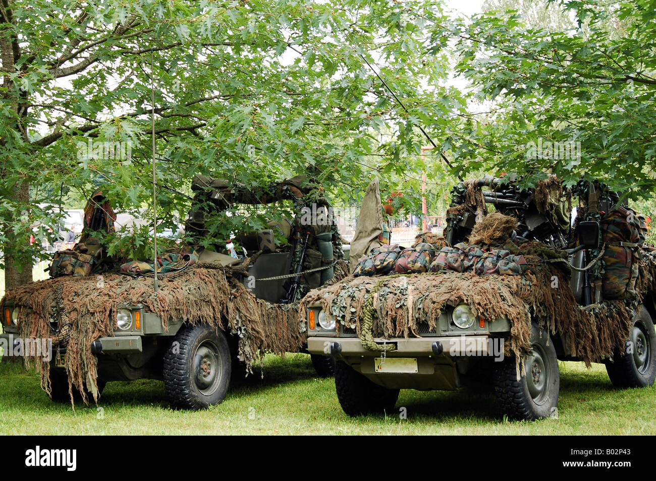 VW Iltis Jeeps used by scout or recce teams from the Belgian Army. - Stock Image