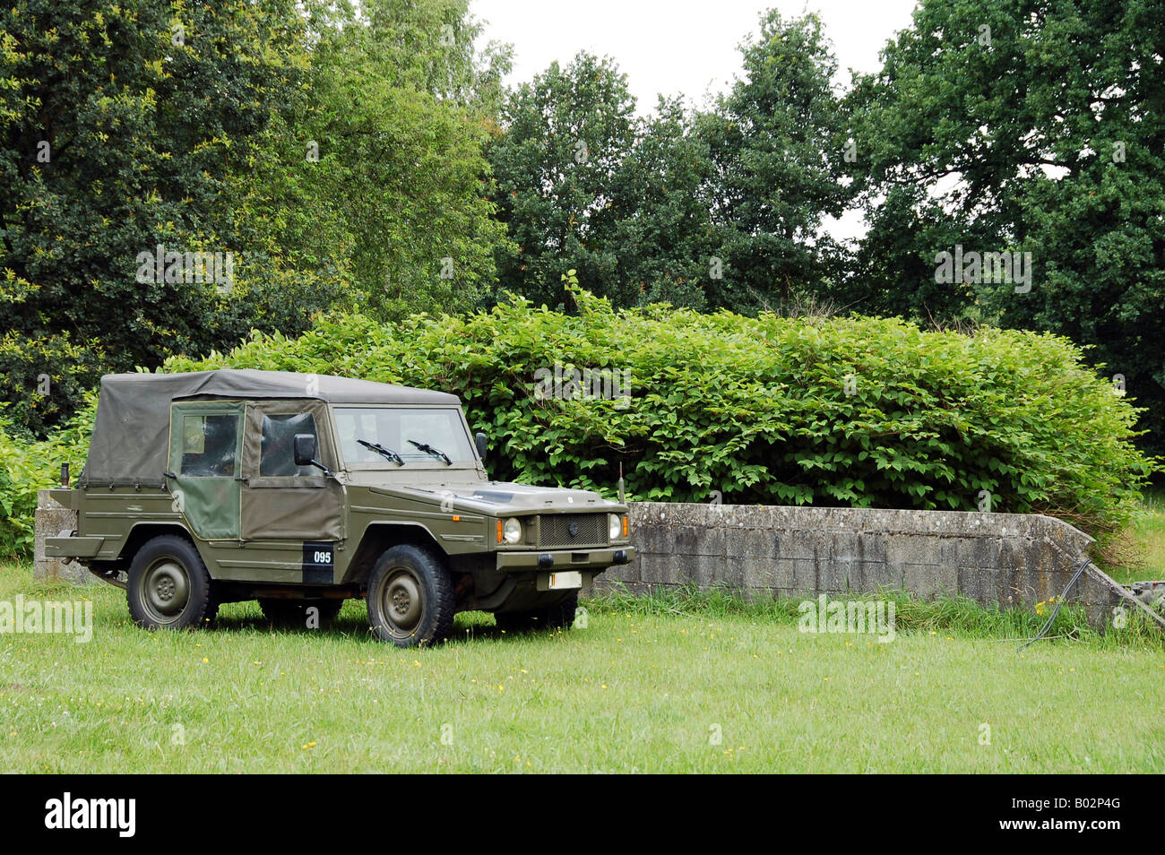 The VW Iltis Jeep used by the Belgian Army. - Stock Image
