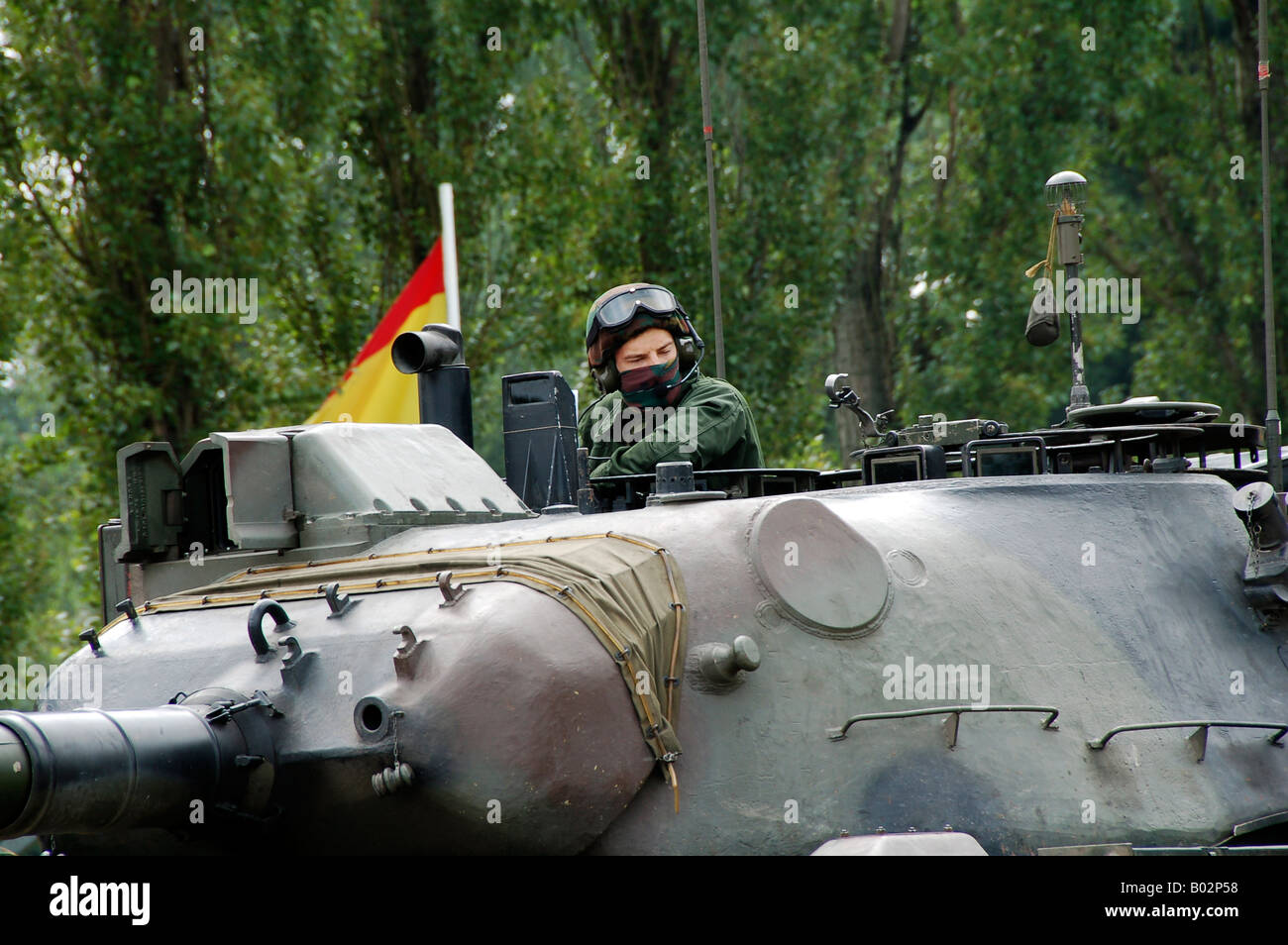 The turret of the Leopard 1A5 MBT of the Belgian Army. - Stock Image